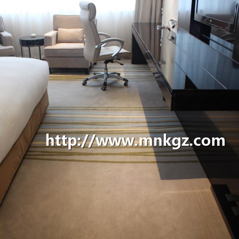 条纹阿克明地毯高档酒店客房满铺毯