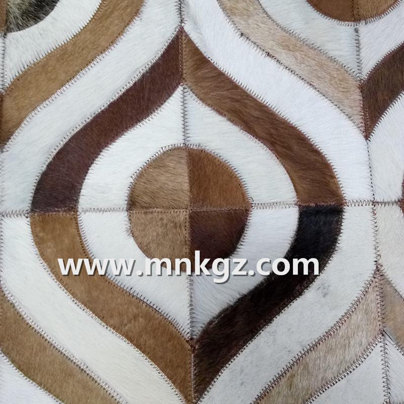 异形天然拼皮牛皮地毯卧室毯
