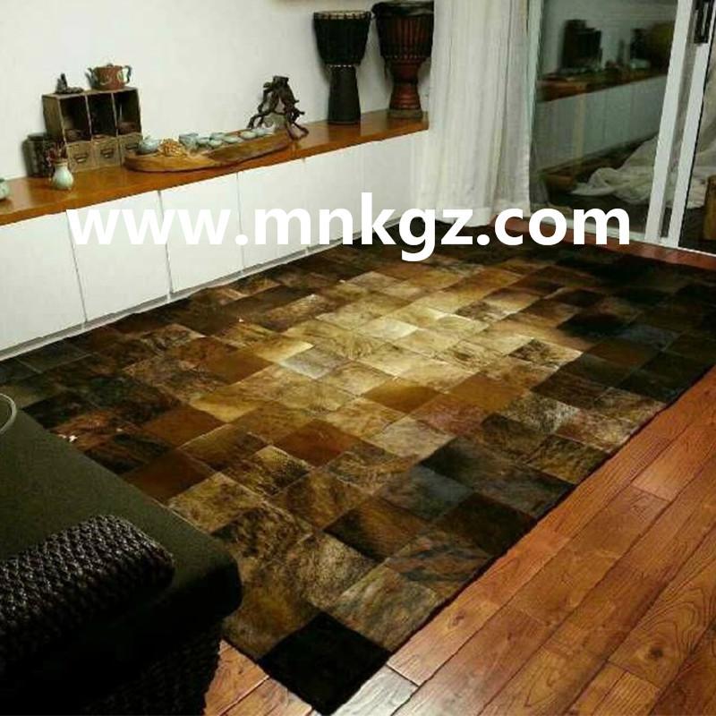 奢华天然拼皮牛皮酒店,家用地毯