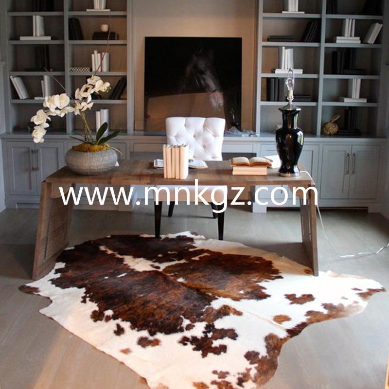 整张天然牛皮茶室,书房地毯