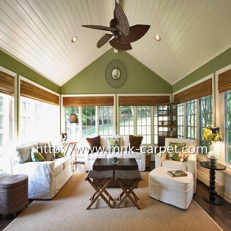 剑麻地毯 中式 古风 地垫 客厅 卧室 天然 美雅居定制