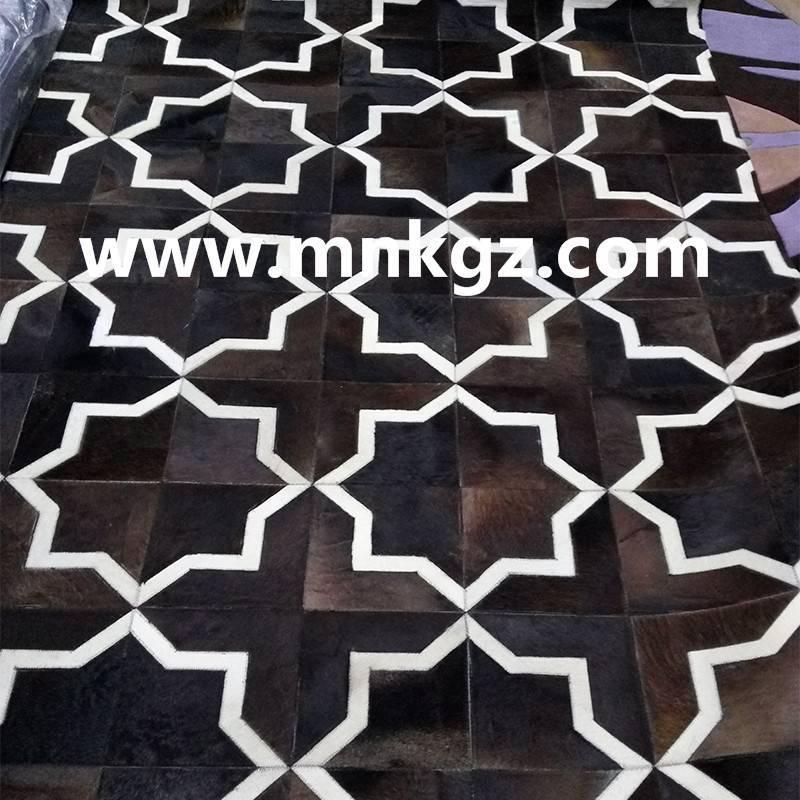 异形拼皮牛皮地毯客厅毯