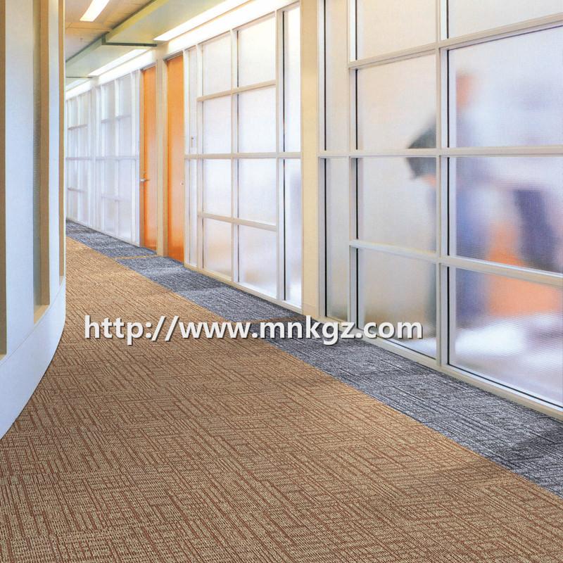 黑色方块毯100%尼龙过消防办公区域满铺地毯