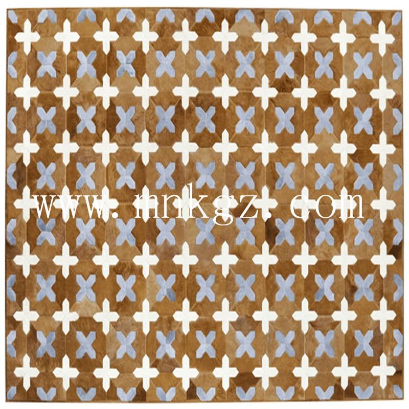定制彩色牛皮家用地毯