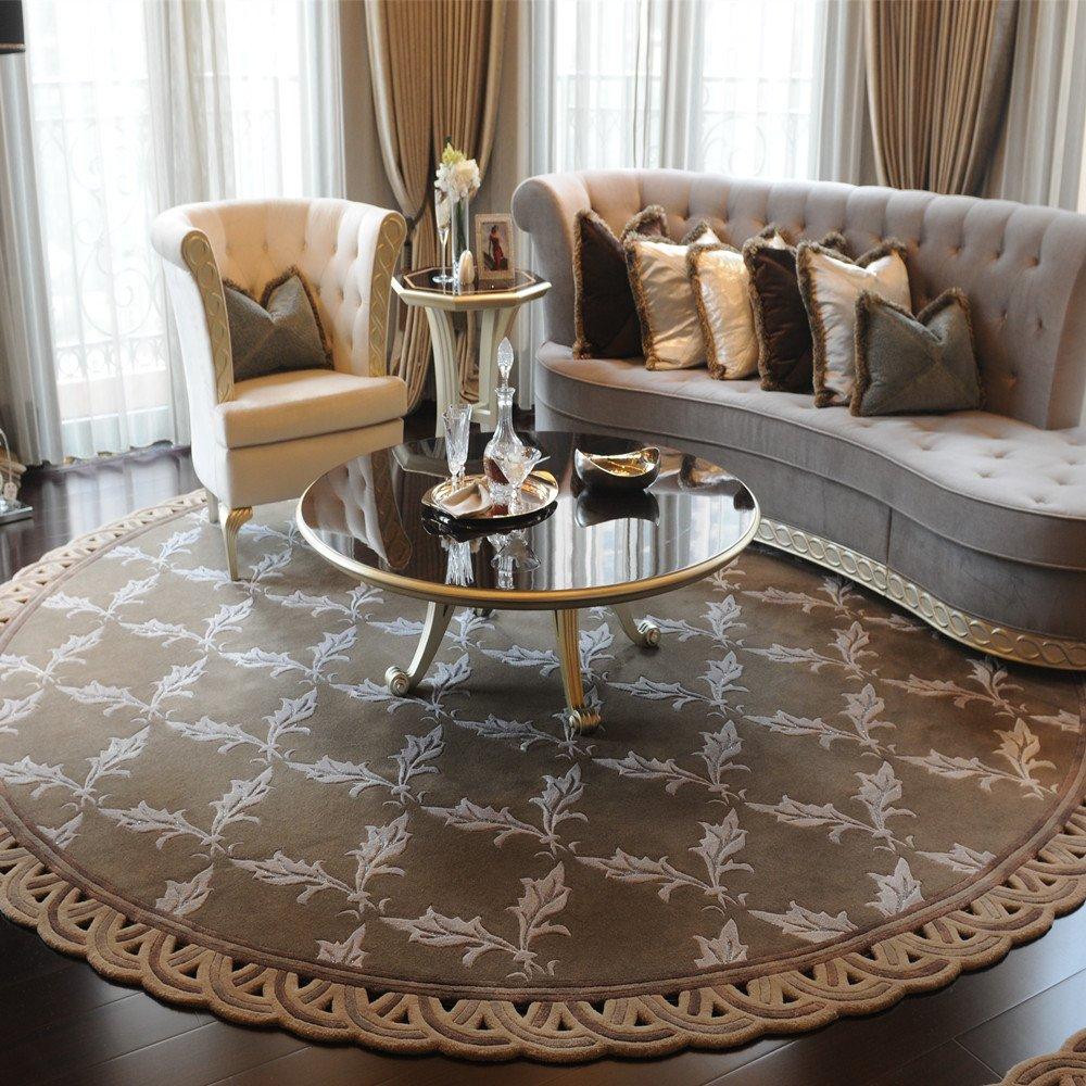 手工羊毛地毯 家具地毯 现代款式定制图案尺寸