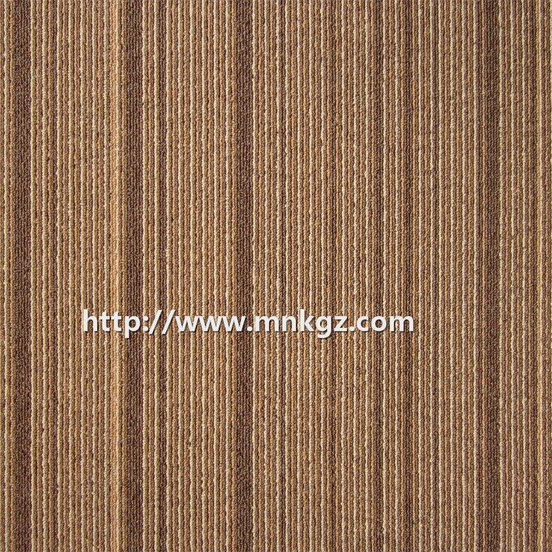 500*500mm条纹办公室专用地毯尼龙提花方块毯