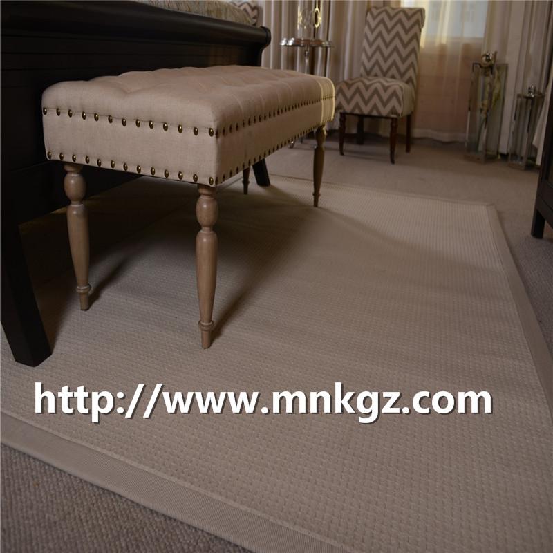 高端定制家居地毯 满铺纯羊毛地毯 现货块毯 北欧简约阻燃环保
