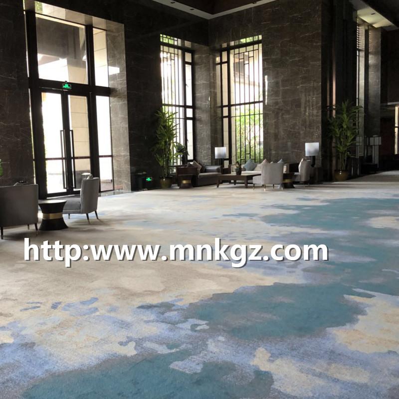 7*8阿克明地毯定制图案酒店大堂地毯