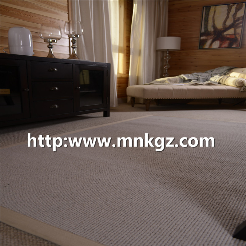 100%羊毛优质家用地毯1450g簇绒地毯