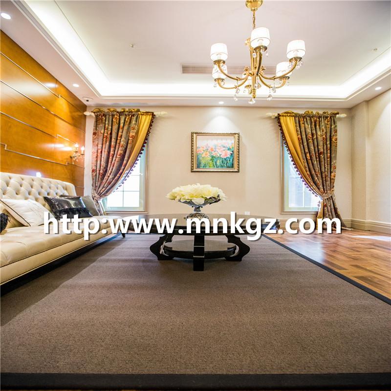 古典风格客厅地毯羊毛混纺簇绒地毯