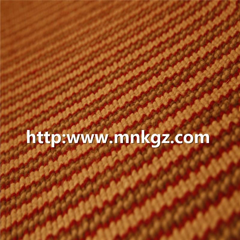 红色条纹簇绒毯100%羊毛楼梯地毯