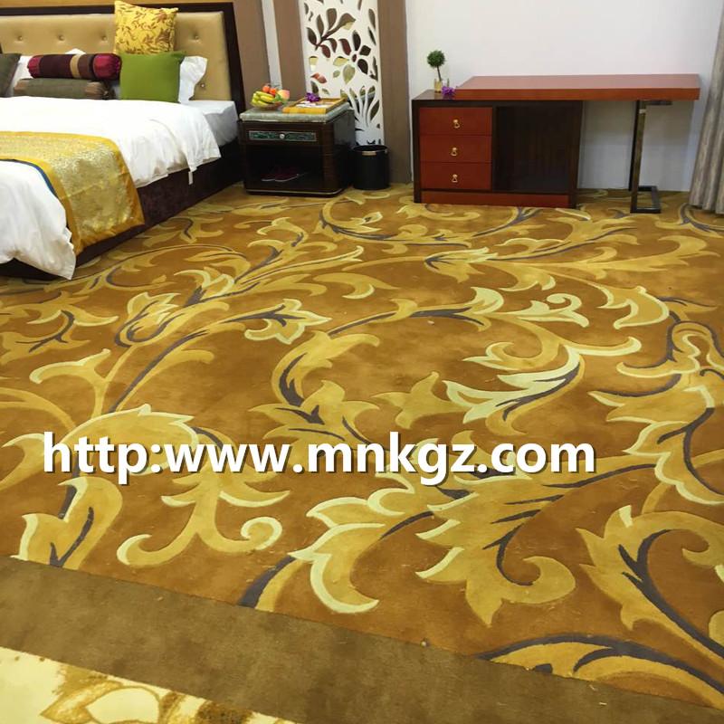 80%羊毛+20%尼龙卧室地毯满铺阿克明地毯