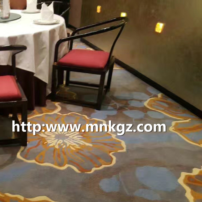 定制满铺地毯过消防阿克明地毯用餐区地毯