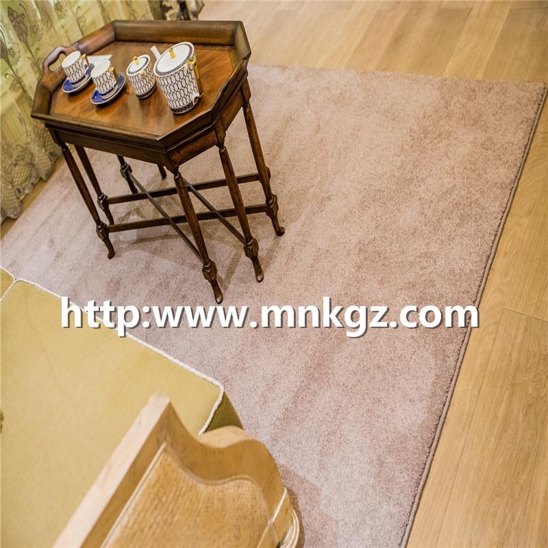 100%涤纶机织地毯纯色淡雅家装地毯