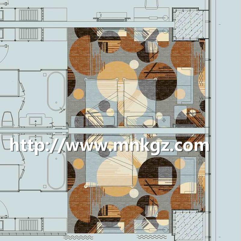 现代风格阿克明地毯四星级酒店大床房地毯