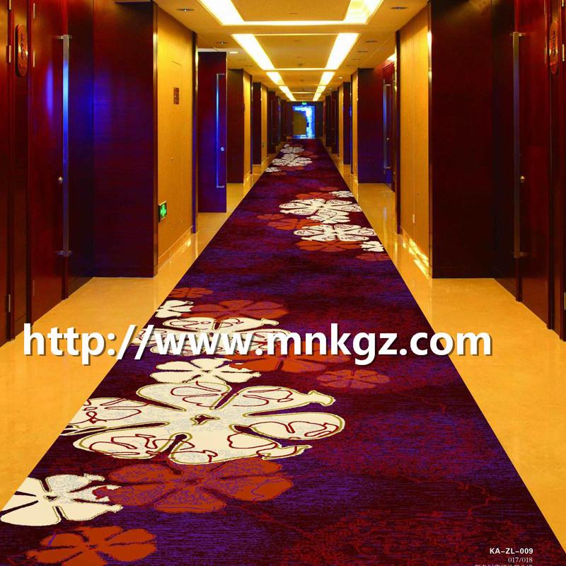 酒店走廊地毯80%羊毛+20%尼龙地毯