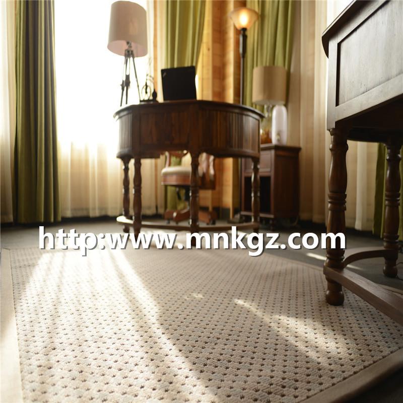 素雅图案单面威尔顿地毯100%羊毛簇绒毯