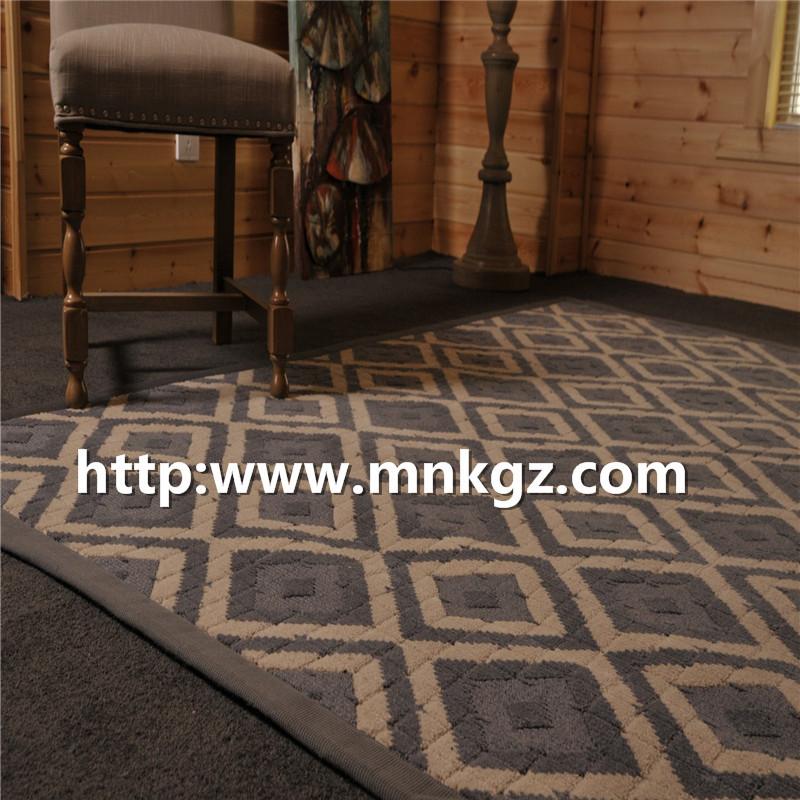简约风格地毯100%羊毛簇绒客厅地毯