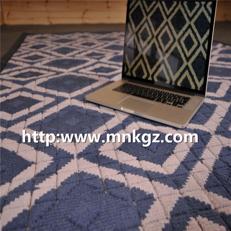 蓝色风格地毯现代家用客厅地毯