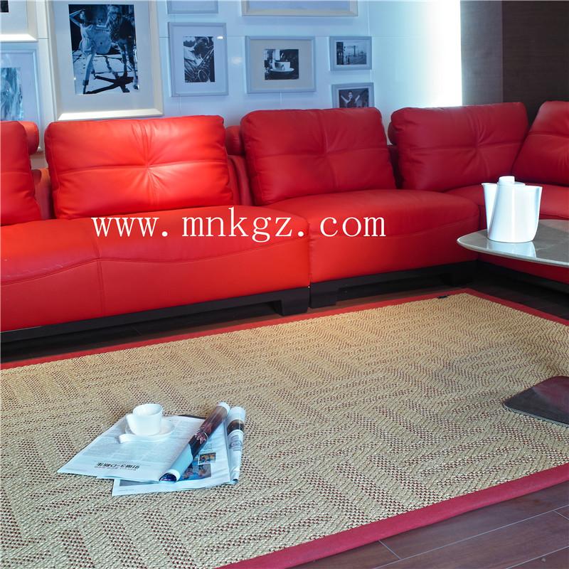 高档天然剑麻地毯  质感强  风格独特  视觉感强  可定制尺寸大小