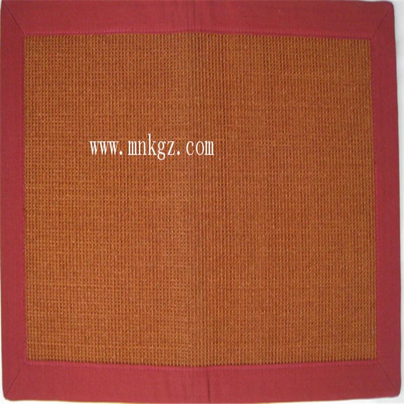 独特红色剑麻地毯  防滑防潮防静电  适用于客厅、卧室均可