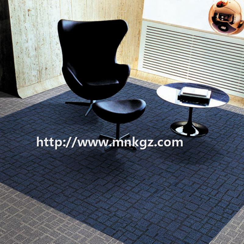 格子图案方块毯满铺办公间地毯