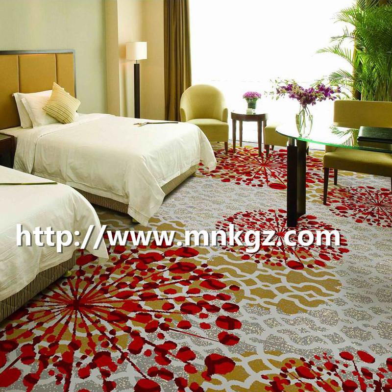 定制图案阿克明地毯酒店双床房满铺毯