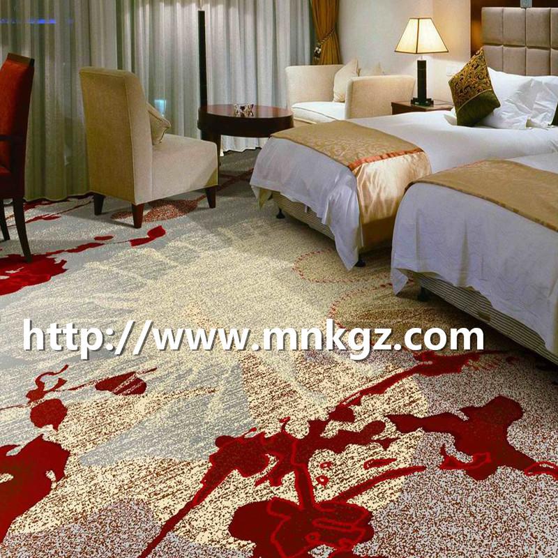 四星级酒店双人床地毯定制图案阿克明地毯