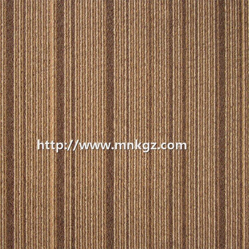 条纹办公室专用地毯尼龙提花方块毯500*500mm