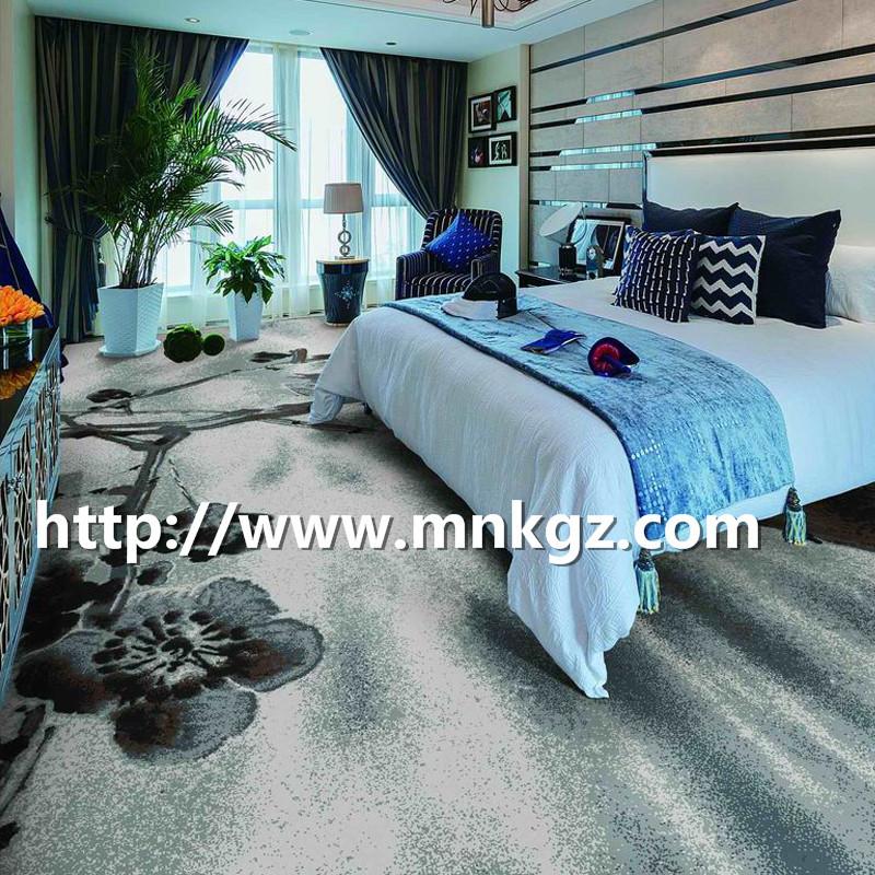 水墨风格阿克明地毯四星级酒店大床房地毯