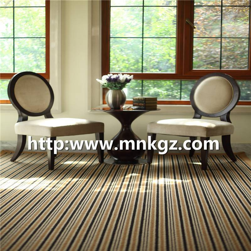 1150g簇绒条纹地毯满铺客厅地毯