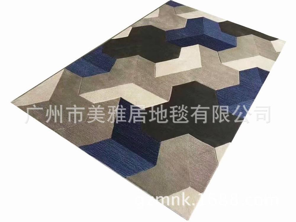 手工定制地毯 腈纶地毯 客厅卧室书房床边大厅地毯