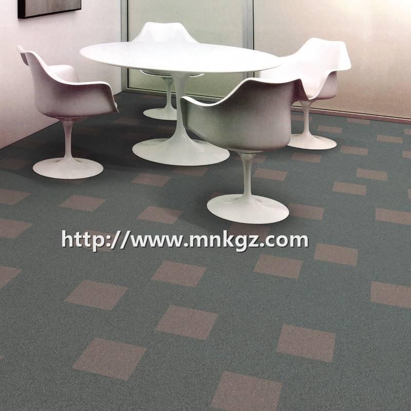 简约现代风格地毯洽谈区拼接满铺尼龙毯
