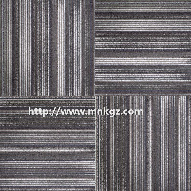 500*500mm条纹提花方块毯尼龙办公室专用拼接地毯