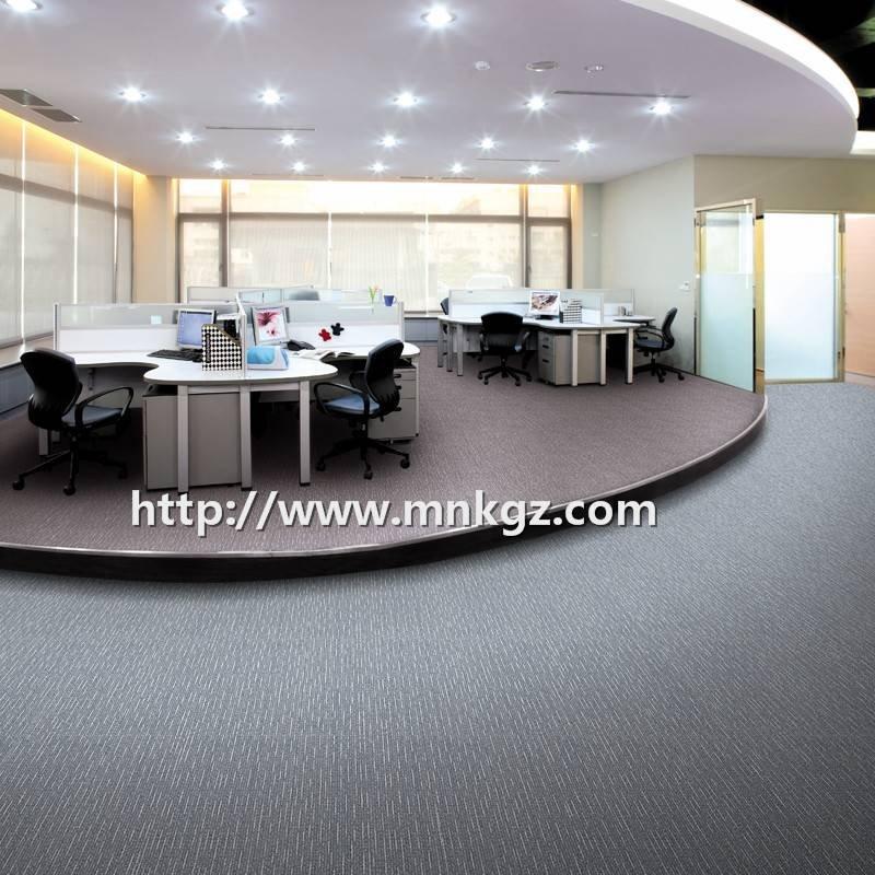 素色满铺拼接地毯100%尼龙过消防办公方块毯