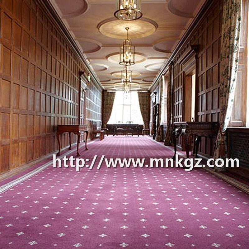 酒店走道满铺毯定制图案阿克明地毯