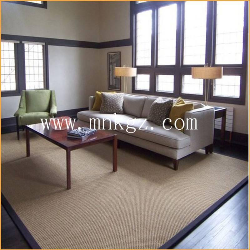 剑麻地毯 现代家居 设计美观 耐用 满铺块毯均可 主要适用于办公 客厅 阳台等