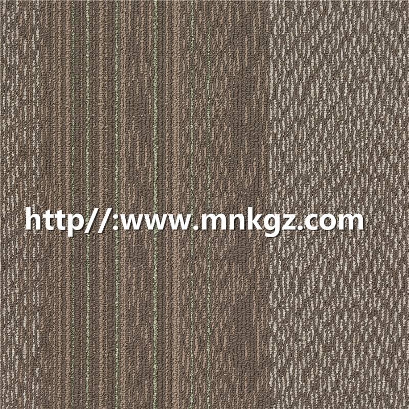 彩色条纹丙纶方块毯500*500mm办公用毯