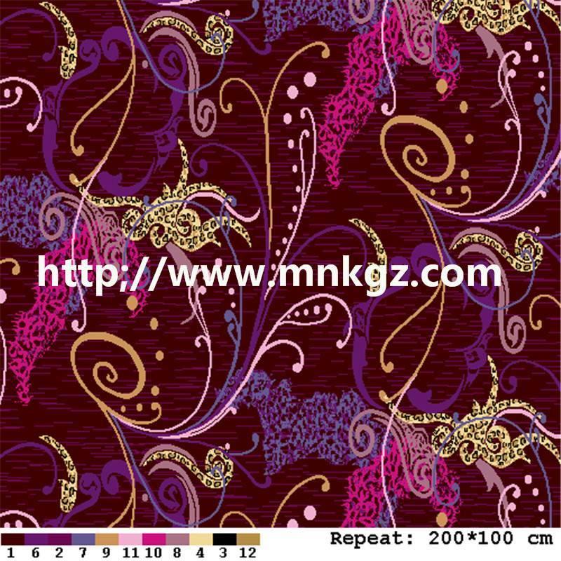 高贵紫色阿克明地毯星级酒店满铺毯