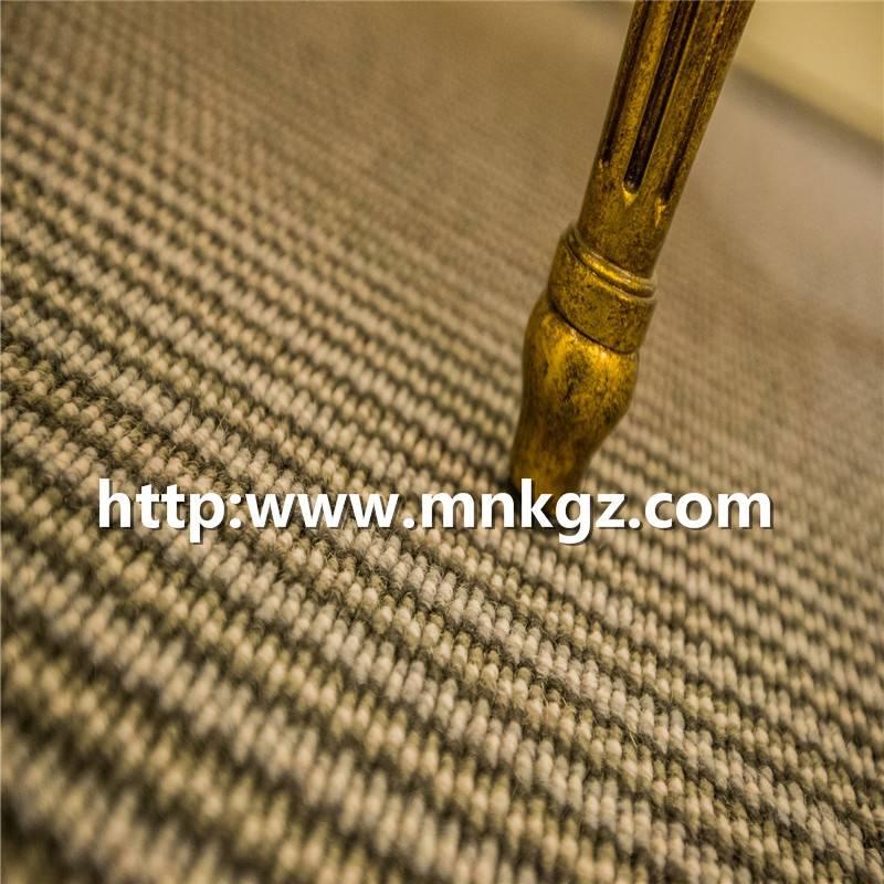 100%羊毛机织地毯彩色条纹客厅毯