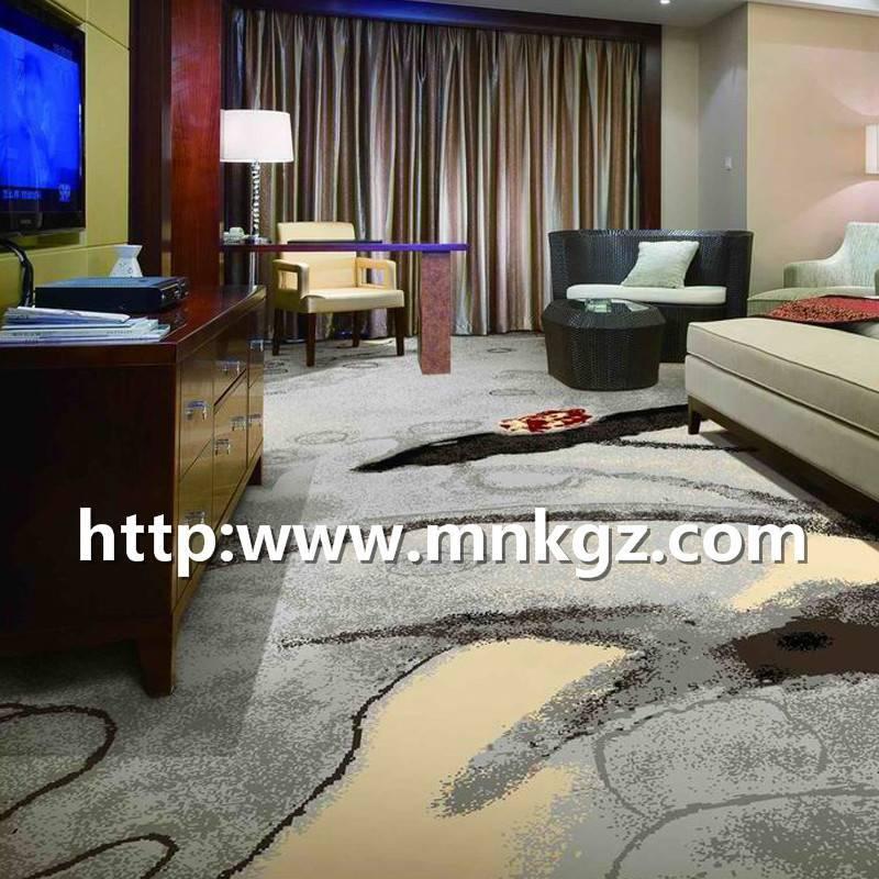 水墨风格阿克明地毯满铺卧室地毯