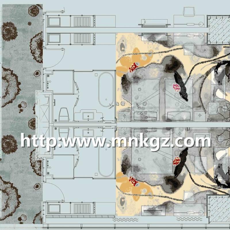 7*9阿克明走道地毯现代风格地毯