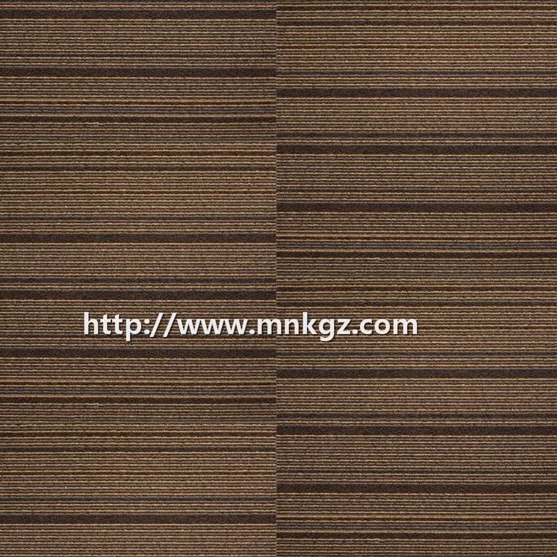 500*500mm深色条纹提花方块毯尼龙办公室专用地毯