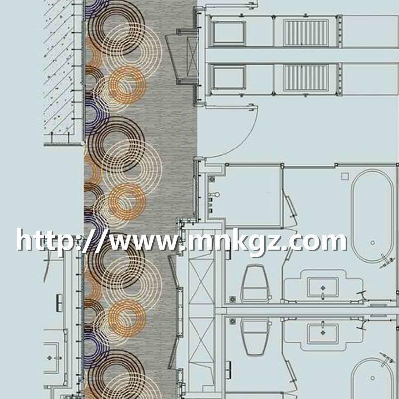 现代风格阿克明地毯四星级酒店走廊毯